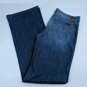 7 For All Mankind 30 Dojo Blue Jeans Hemmed